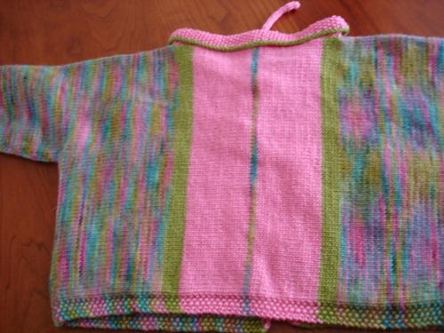 Brooklyn Handspun Baby Sweater -- Back