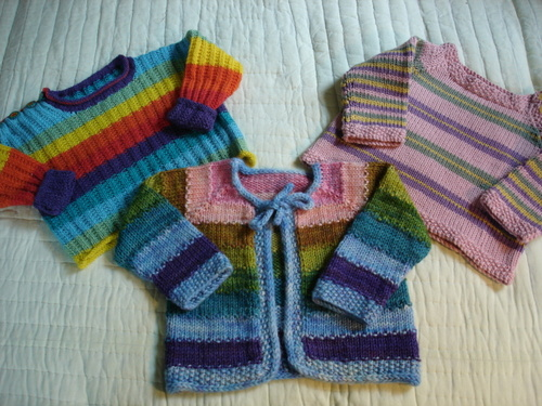 A Trio of Baby Sweaters